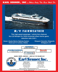 Maritime Reporter Magazine, page 4th Cover,  Jan 2010 Washington