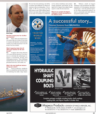 Maritime Reporter Magazine, page 3rd Cover,  Apr 2, 2010 real time data trans