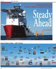 Maritime Reporter Magazine, page 4th Cover,  Apr 2, 2010 Greg Trauthwein Hornbeck Offshore Timeline