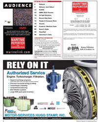 Maritime Reporter Magazine, page 4,  Aug 2010 Canada