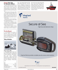 Maritime Reporter Magazine, page 15,  Oct 2010