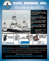 Maritime Reporter Magazine, page 4th Cover,  Oct 2010
