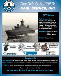 Maritime Reporter Magazine, page 4th Cover,  Nov 2010