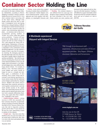 Maritime Reporter Magazine, page 7,  Nov 2010 carrier/shipper partnership
