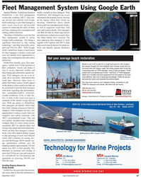Maritime Reporter Magazine, page 89,  Nov 2010 GlobalView, a new fleet management system