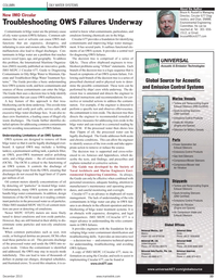 Maritime Reporter Magazine, page 33,  Dec 2010 Society of Naval Architects and Marine Engineers Envi