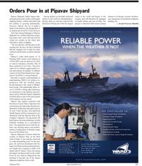 Maritime Reporter Magazine, page 11,  Feb 2011