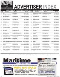 Maritime Reporter Magazine, page 64,  Feb 2011