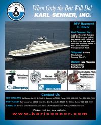 Maritime Reporter Magazine, page 4th Cover,  Feb 2011
