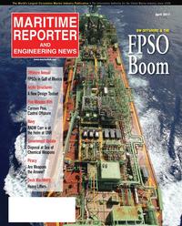 Maritime Reporter Magazine Cover Apr 2011 - Offshore Annual