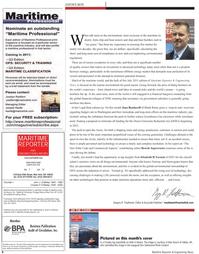 Maritime Reporter Magazine, page 6,  Jul 2011