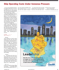 Maritime Reporter Magazine, page 23,  Sep 2011