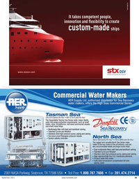 Maritime Reporter Magazine, page 35,  Sep 2011