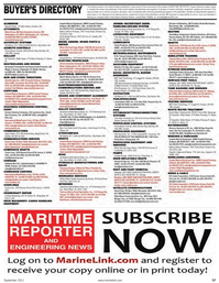 Maritime Reporter Magazine, page 57,  Sep 2011