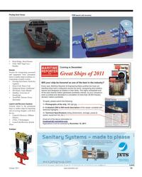 Maritime Reporter Magazine, page 55,  Oct 2011