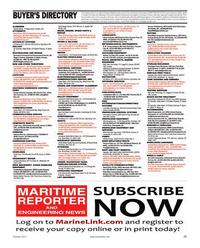 Maritime Reporter Magazine, page 73,  Oct 2011