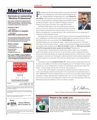 Maritime Reporter Magazine, page 6,  Oct 2011