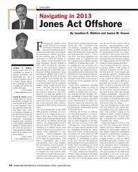 Maritime Reporter Magazine, page 16,  Jan 2013