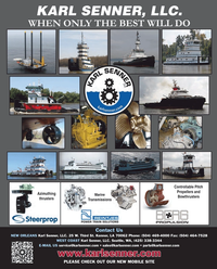 Maritime Reporter Magazine, page 4th Cover,  Jan 2013 Karl Senner LLC