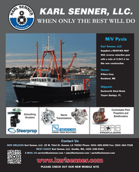 Maritime Reporter Magazine, page 4th Cover,  Feb 2013 Karl Senner LLC