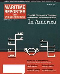 Maritime Reporter Magazine Cover Mar 2013 - U.S. Coast Guard Annual