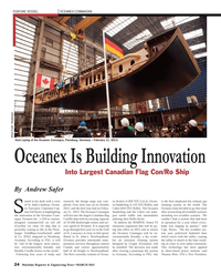 Maritime Reporter Magazine, page 24,  Mar 2013 FEATURE VESSEL OCEANEX CONNAIGRA