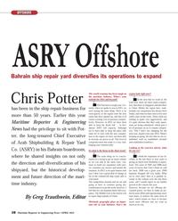 Maritime Reporter Magazine, page 38,  Apr 2013 Greg Trauthwein