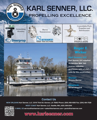 Maritime Reporter Magazine, page 4th Cover,  Apr 2013 Karl Senner LLC