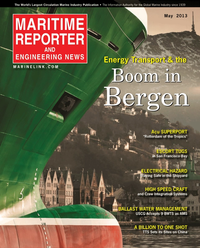 Maritime Reporter Magazine Cover May 2013 - Energy Production & Transportation