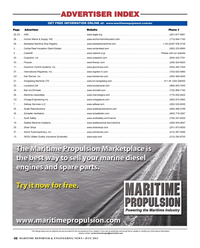 Maritime Reporter Magazine, page 48,  Jul 2013 GOVERNOR CONTROL SYSTEMS INC.