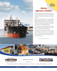 Maritime Reporter Magazine, page 2nd Cover,  Aug 2013