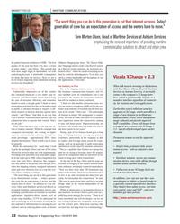 Maritime Reporter Magazine, page 22,  Aug 2013 XChange