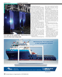 Maritime Reporter Magazine, page 50,  Sep 2013 Harbor Island Training Center