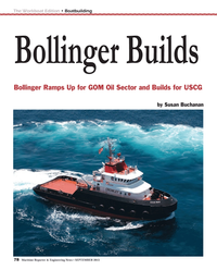 Maritime Reporter Magazine, page 78,  Sep 2013 Susan BuchananMR
