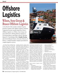 Maritime Reporter Magazine, page 54,  Oct 2013 S??o Paulo