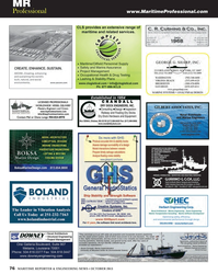 Maritime Reporter Magazine, page 76,  Oct 2013 range ofmaritime and related services