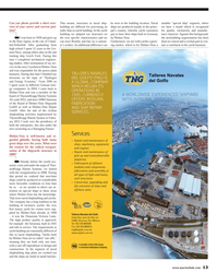 Maritime Reporter Magazine, page 13,  Nov 2013 light and heavy steel structures
