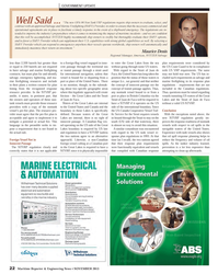 Maritime Reporter Magazine, page 22,  Nov 2013 Service for the Strait