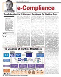 Maritime Reporter Magazine, page 28,  Nov 2013 European Port Community Systems Association
