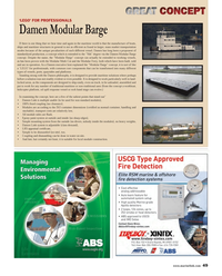 Maritime Reporter Magazine, page 49,  Dec 2013 maritime solutions