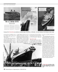 Maritime Reporter Magazine, page 36,  Feb 2014 port News Shipbuilding