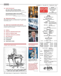 Maritime Reporter Magazine, page 4,  Feb 2014 NEWS 54 PRODUCTS