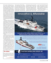 Maritime Reporter Magazine, page 21,  Mar 2014 Department of Defense Report