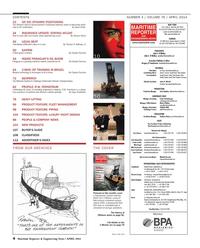 Maritime Reporter Magazine, page 4,  Apr 2014