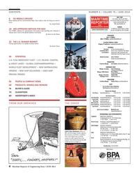 Maritime Reporter Magazine, page 4,  Jun 2014