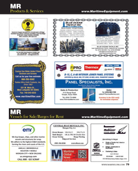 Maritime Reporter Magazine, page 79,  Jun 2014 MARINE FENDER & DOCK SYSTEMS