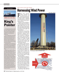 Maritime Reporter Magazine, page 12,  Jul 2014 Rotor Sail Solution