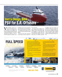 Maritime Reporter Magazine, page 13,  Aug 2014