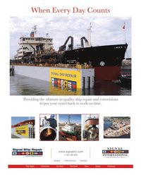 Maritime Reporter Magazine, page 2nd Cover,  Aug 2014