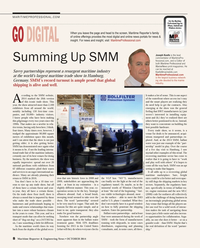 Maritime Reporter Magazine, page 8,  Oct 2014
